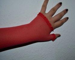 Vintage Siateczkowe rękawiczki Wielokolorowy