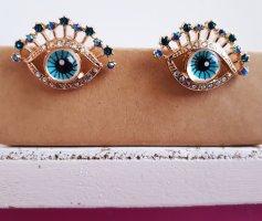 Vintage Ohrringe Augen in Goldene Farbe