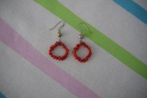Dangle silver-colored-red