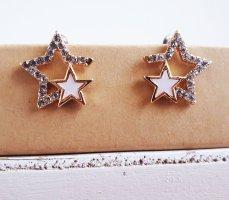 Vintage Ohrringe Ohrstecker Sterne in Gold