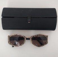vintage original Cazal 912 728 Sonnebrille 90er 90s gold mit Leoparden Print