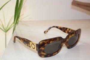 Vintage original versace sonnenbrille gold braun