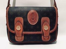 Vintage Pollini Abendhandtasche Mini Bag Monogramm Canvas Crossbody