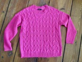 Vintage Jersey trenzado rosa neón-rosa