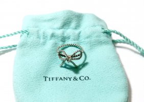 Vintage Rarität Tiffany & Co. Ring Gr. 49/15,6 925 Silber Twisted Bow Luxus
