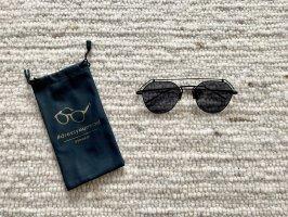 Okulary retro czarny-antracyt