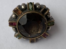 Vintage Silver Ring silver-colored-bronze-colored real silver
