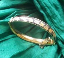 Bracelet de bras doré-noir métal