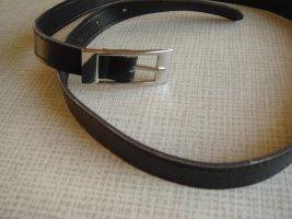 Vintage Cinturón de cuero de imitación rojo zarzamora-gris claro