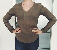 Vintage Sommer Bluse in S aus Viscose mit V- Ausschnitt