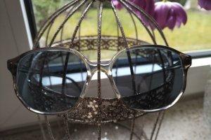 Unbekannte Marke Kwadratowe okulary przeciwsłoneczne jasnoszary