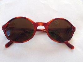 Vintage Sonnenbrille mit braun gemustertem Rahmen