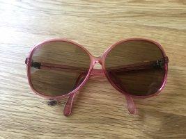 Vintage Sonnenbrille rosa gemustert 80 Jahre