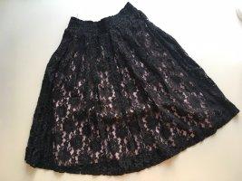 Lecomte Falda de encaje multicolor