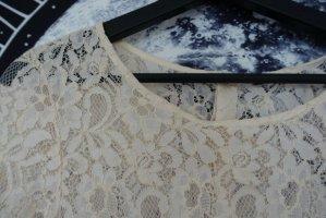 H&M Koronkowa bluzka kremowy-biały
