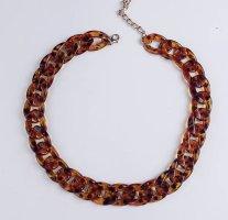 Link Chain black-cognac-coloured
