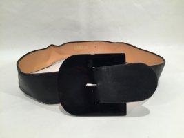 """Vintage Taillengürtel """"Lasso"""" aus schwarzem Leder - Gr. 75"""
