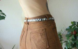 Vintage Taillengürtel Zebra, schmaler Kunstledergürtel 80er/90er, alternative blogger