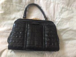 Vintage Tasche im Krokolook