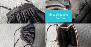 Vintage-Tasche in schwarz