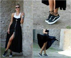 Marc Kehnen Sukienka z gorsetem czarny Bawełna