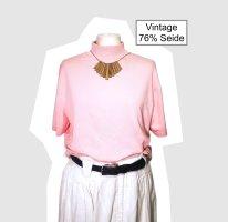 Vintage Short Sleeve Sweater light pink-pink silk