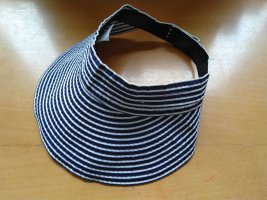 Zonnehoed donkerblauw-wit Polyester