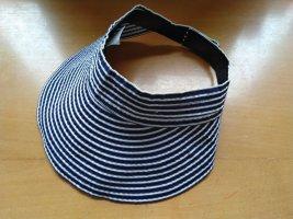 Chapeau de soleil bleu foncé-blanc polyester