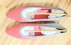 Vivaia Ballerine en pointe gris clair-rose clair