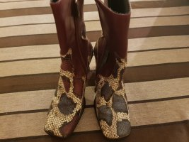 Bernd Berger Heel Boots brown violet leather