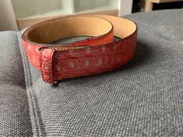 VMP Cinturón de cuero rojo claro