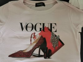 0039 Italy T-shirt imprimé rose clair