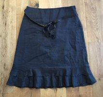 H&M Flounce Skirt black ramie