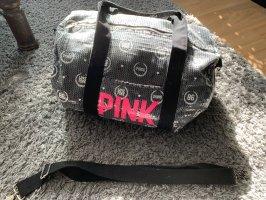 Pink Victoria's Secret Bolsa de gimnasio gris-rosa