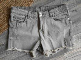 Takko Pantaloncino di jeans grigio chiaro-grigio Cotone