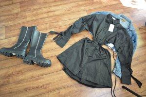 Waist Strap Detail Dropped Shoulder Dress Angelica Blick x NA-KD, Black 36