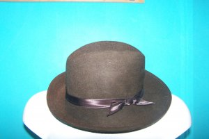 Felt Hat dark brown mixture fibre