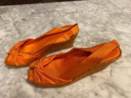 Walter Bauer Sandales à talons hauts et plateforme orange fluo-orange