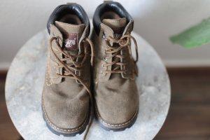 Aanrijg laarzen groen-grijs Leer