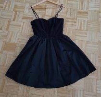 H&M Robe bustier noir tissu mixte