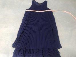 Warehouse Robe trapèze bleu-bleu foncé