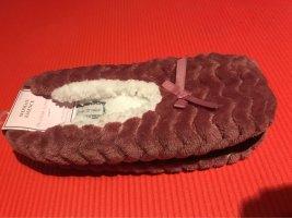 Pantoufles-chaussette gris lilas
