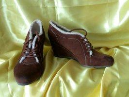 Graceland Escarpins à lacets brun-crème