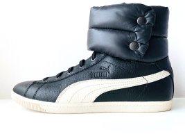 Warme HighSneaker Schwarz Weiß Leder Riemen Schnalle Puma