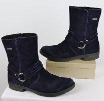 Warme Wildleder Winterstiefel Ricosta tex Größe 38 Nachtblau Dunkelblau Schnalle Lederstiefel Bequem