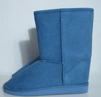 Warme Winter Boots Slouch Stiefel Größe 36 Blau Gefüttert
