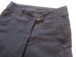 H&M Pantalone di lana nero-blu scuro Viscosa