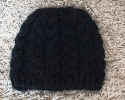H&M Knitted Hat black cotton