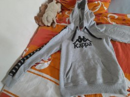 Kappa Maglione con cappuccio nero-argento