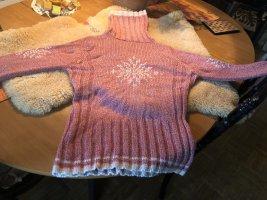 Tchibo / TCM Norwegian Sweater pink-natural white